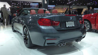 BMW M4 Convertible New York show rear