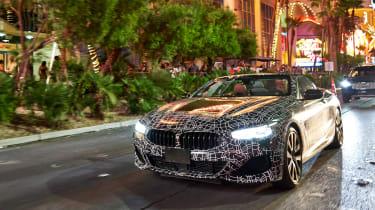 BMW 8-series cabrio test - front quarter