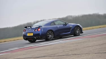 2012 Nissan GT-R on track