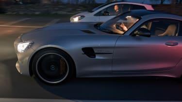Yaris GRMN & Mercedes-AMG GT R night