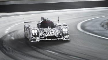 Porsche LMP1 Le Mans car cornering