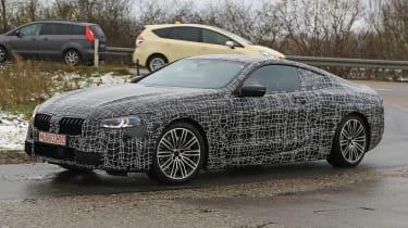BMW 8-series spy - front quarter
