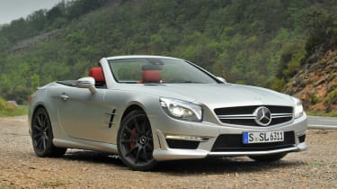 2013 Mercedes SL63 AMG roof down