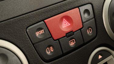Fiat Panda 100HP sport button