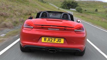 2012 Porsche Boxster 2.7 rear spoiler up