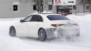 Mercedes-AMG S63 2021 spy 2 rear