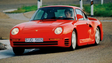 195mph Porsche 959: Perhaps the most technically-advanced hypercar of its generation, the 959 pushed Porsche past Ferrari - e