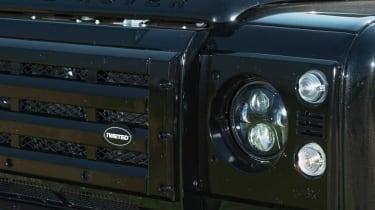 Twisted Land Rover Defender badge grille