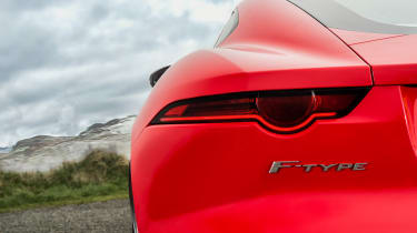 Jaguar F-Type four-cylinder - tail light detail