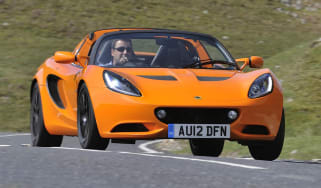 2012 Lotus Elise S orange cornering