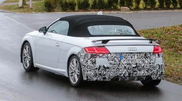 Audi TT spy - roadster rear quarter