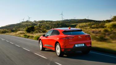 Jaguar I-Pace driving - rear quarter