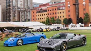 City Concours 2017 –  Bugatti EB110 and Ferrari 458 Speciale