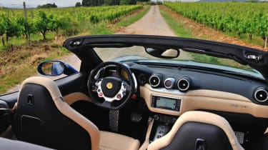 Ferrari California T interior dashboard