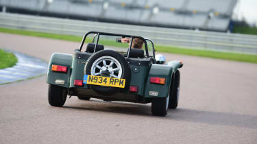 Caterham on track