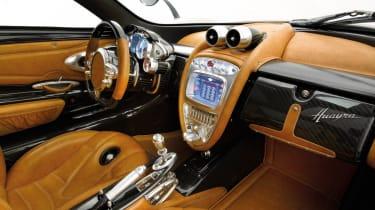 New Pagani Huayra interior gear selector
