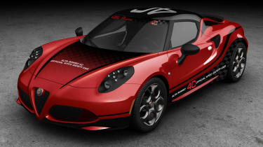 Alfa Romeo 4C WTCC safety car red and black