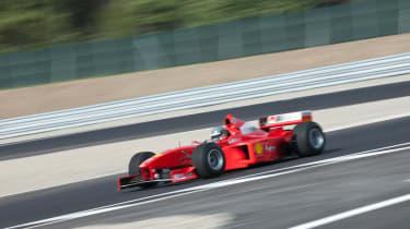 Michael Schumacher's Ferrari F1 car driven evo