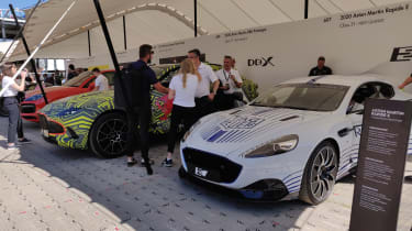 Goodwood 2019 - supercar paddock Aston Martins