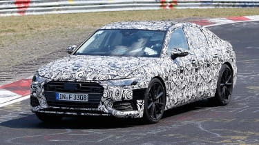 2018 Audi S6 spied - front 3/4