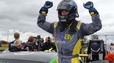 British Touring Cars Croft Colin Turkington wins