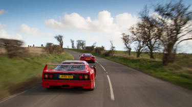 Ferrari turbos 488 F40 - F40 moving