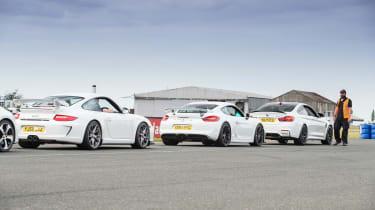evo track evening - Porsche line up