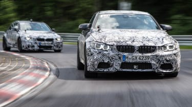 New BMW M3 and M4: prototypes Nurburgring