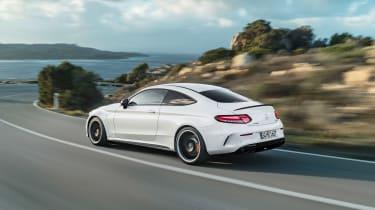 Mercedes-AMG C 63 S Coupe - white rear quarter