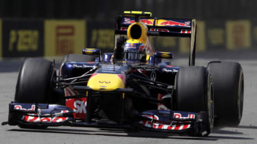 Mark Webber Red Bull Formula 1 car