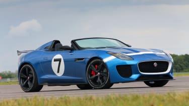 Jaguar F-type Project 7 blue front