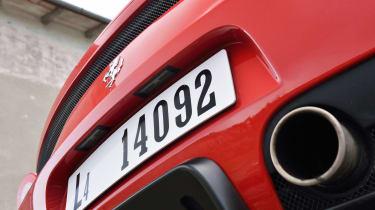 Ferrari 458 Speciale exhausts