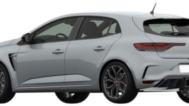 2018 Renault Sport Megane patent rendering - Rear