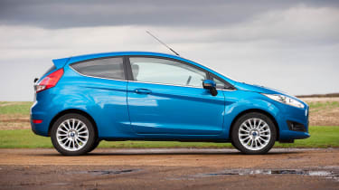 2013 Ford Fiesta Ecoboost side profile