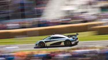 Koenigsegg 1:one at the Goodwood festival of speed FOS