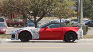 Chevrolet Corvette ZR1 spied - profile