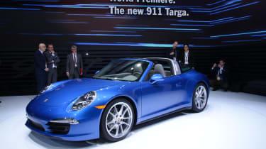 Porsche 911 Targa 4 Detroit show pictures