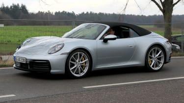 Porsche 911 Cabrio spy - front quater
