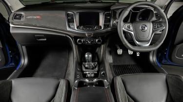 Vauxhall VXR8 GTS-R blue - UK car interior