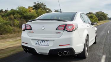 Vauxhall VXR8 GTS white rear