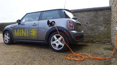 Mini E electric charging up