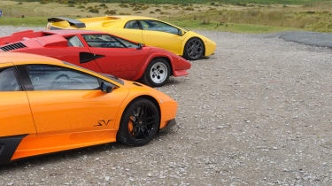 Lamborghini V12 group test Wales - triple