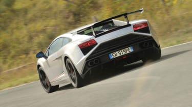 Lamborghini Gallardo Squadra Corse rear cornering