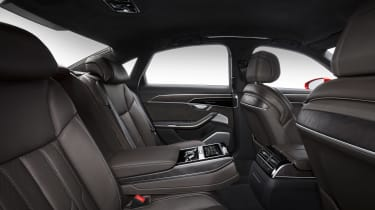 All-new Audi A8 red - interior rear