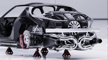 Alpine A110 GTA concept – rear mounting
