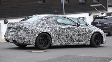 2022 BMW M2 spied road rear quarter
