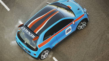 Renault TwinRun V6 hot hatch concept roof wheelspin