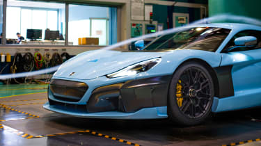 Rimac C_Two hypercar wind tunnel