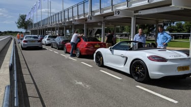 Goodwood track day 2019 - pit lane
