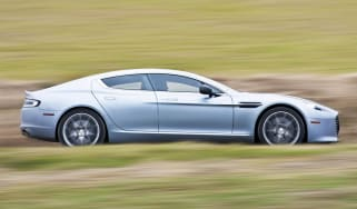 Aston Martin Rapide S silver side profile